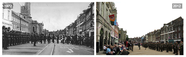 Blandford Forum 1972 vs 2012