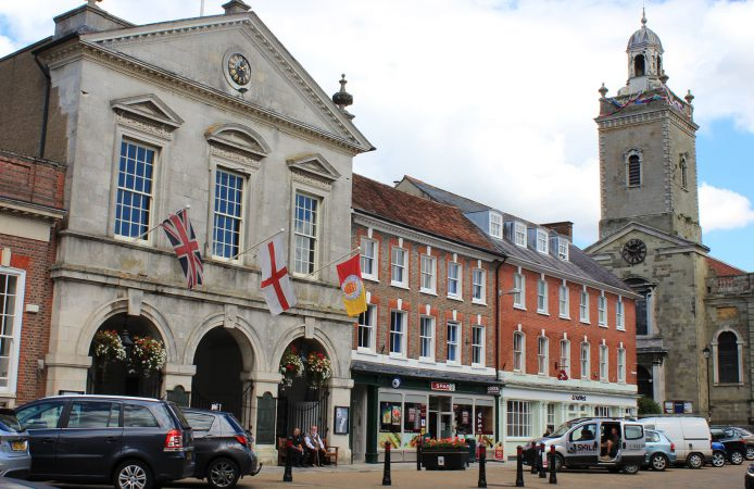 Blandford Forum town centre
