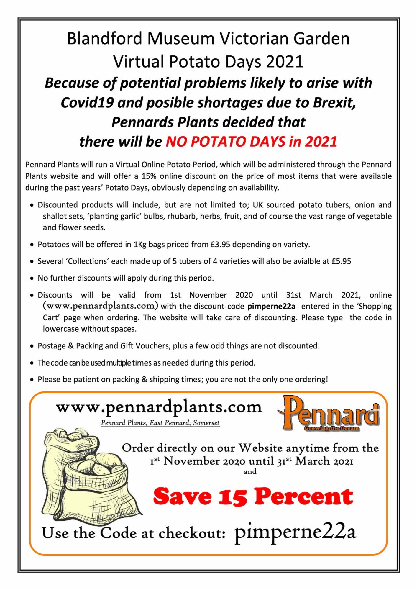 2021 Potato Day Blandford Discounts